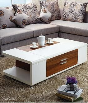 Personalised Living Room Furniture Tables / Simple Coffee Table Bright Color