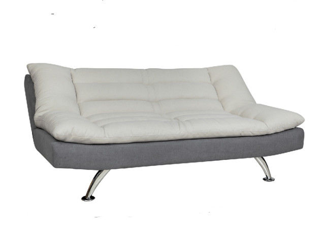 Fabric Cover Functional Sofa Bed Foam Dacron Metal Legs Imitated Linen