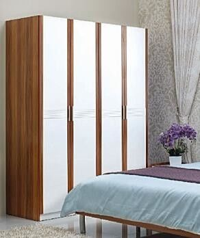 Elegant Design Full Bedroom Furniture Sets 4 Door Wardrobe With Inside Cabinet