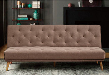 Fashion Embossing Decent Single Sofa Bed Recycle Foam For Young People